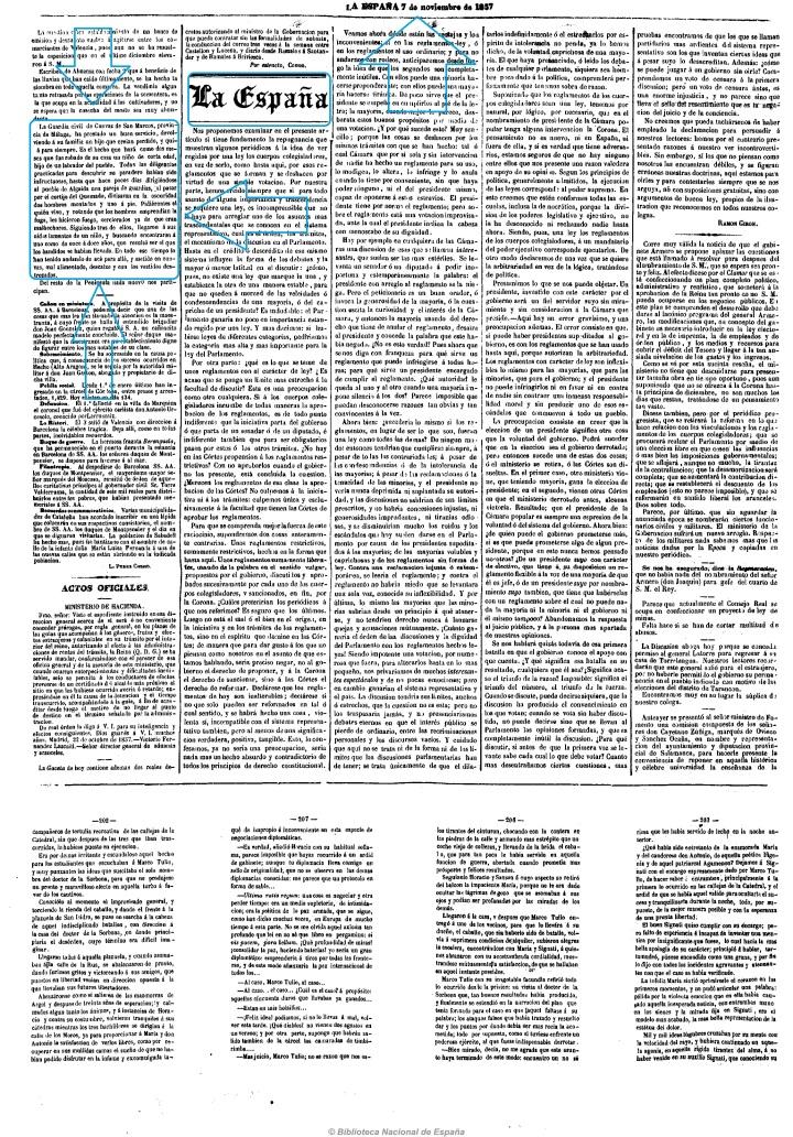 1857 11 7 Guardia Civil recupera niño robado LA ESPAÑA Fragmento 2 .jpg